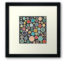 Happy Shiny Droplets Framed Print