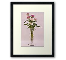 Straw Flowers - Digital Water Color Framed Print