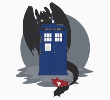 Toothless TARDIS Kids Tee