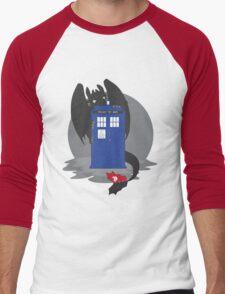Toothless TARDIS Men's Baseball ¾ T-Shirt