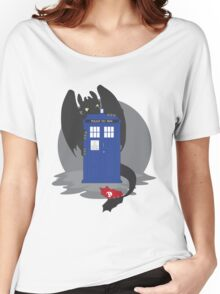 Toothless TARDIS Women's Relaxed Fit T-Shirt