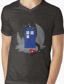 Toothless TARDIS Mens V-Neck T-Shirt