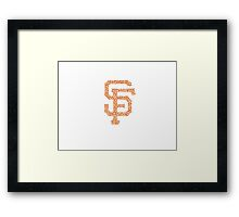 SF Giants Stained Framed Print