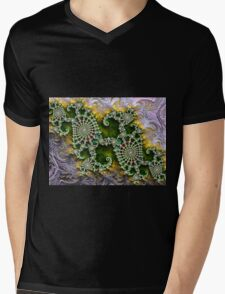 Old Lace and Satin Mens V-Neck T-Shirt