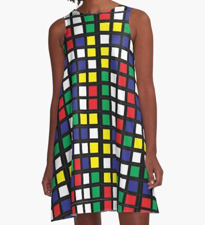 Cube Madness A-Line Dress