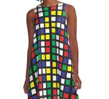 Cube Madness A-Line Dress