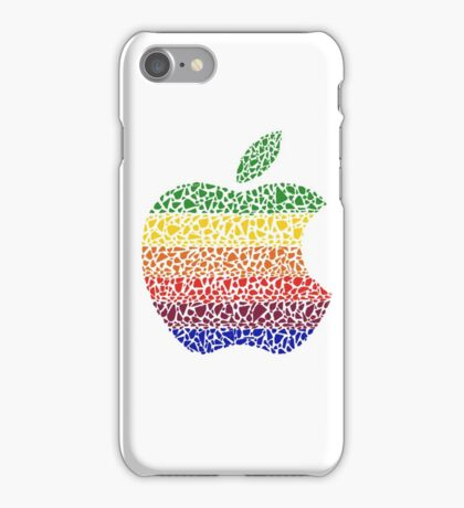 Six Colors Stained Glass Apple iPhone Case/Skin