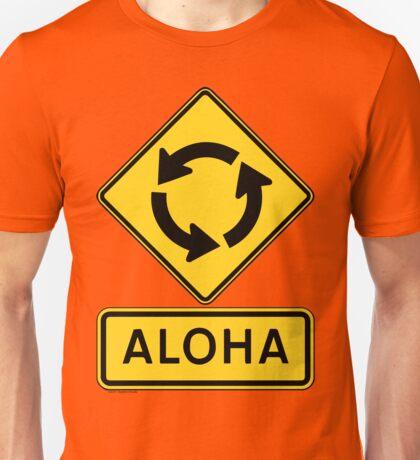 Aloha Circle Sign Design Unisex T-Shirt