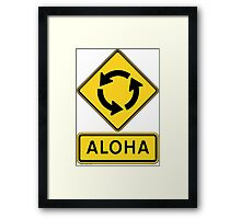 Aloha Circle Sign Design Framed Print
