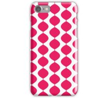 Eames Era Retro 60s Waves Pattern  (Pure Magenta Red) iPhone Case/Skin