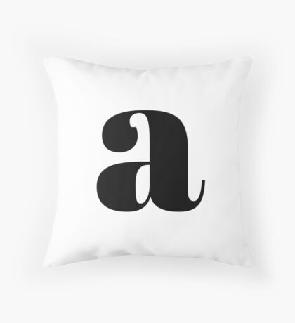"""A"" initial Throw Pillow"