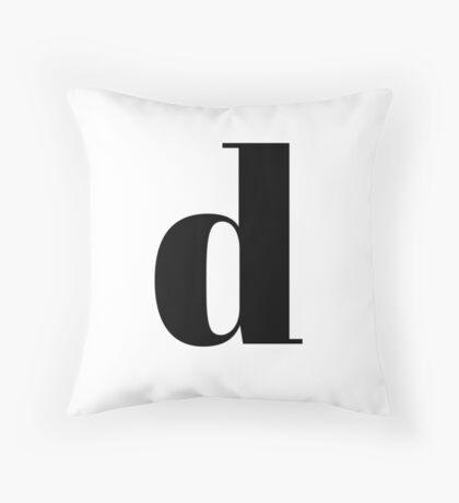 """D"" initial Throw Pillow"