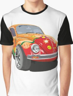 Custom Bug with graffity Graphic T-Shirt