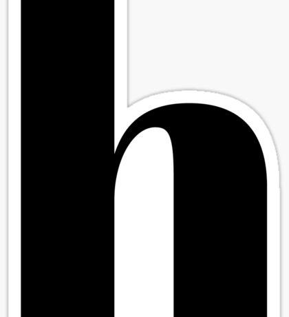 """""""H"""" initial Sticker"""