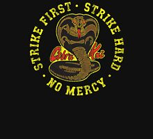 Cobra Kai - Strike First - Strike Hard - No Mercy - Distressed Variant 2 Womens Fitted T-Shirt
