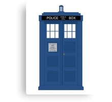 The Doctors TARDIS Canvas Print