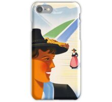 Vintage Austria Travel Poster iPhone Case/Skin