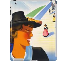 Vintage Austria Travel Poster iPad Case/Skin