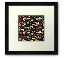 Night Time Rhino Adventure Framed Print