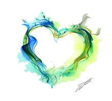 Ink Heart Photographic Print