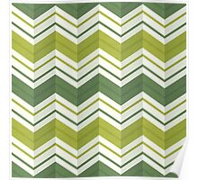 Chevron Stripes - Avocado Poster