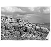 Salt Valley 4 Arches National Park BW Poster