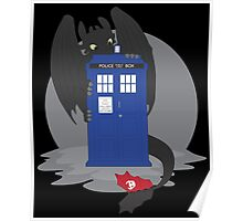 Toothless TARDIS Poster