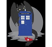 Toothless TARDIS Photographic Print