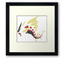 Pokemon: Gyrados (Minimalist) Framed Print
