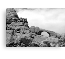 Window Arch - Arches National Park BW Canvas Print