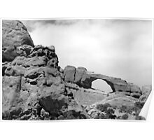 Window Arch - Arches National Park BW Poster