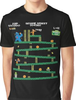 Adventure Time Donkey Kong Arcade game 80s retro Graphic T-Shirt
