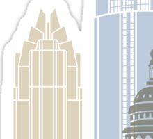 Austin skyline poster Sticker