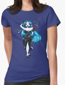 Blue Hair Womens Fitted T-Shirt