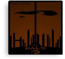 Minimalist Halo 2 Poster Canvas Print