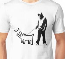 Banksy Walking The Dog Unisex T-Shirt