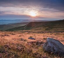 Higger Tor Sunset by Jon Bradbury