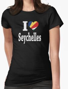 I Love Seychelles Flag t-shirt Womens Fitted T-Shirt
