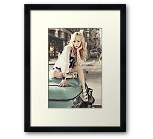 girls generation taeyeon Framed Print