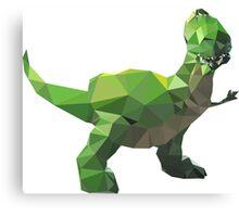 Rex - Toy Story Themed T-Shirt Canvas Print
