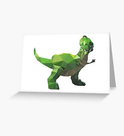 Rex - Toy Story Themed T-Shirt Greeting Card