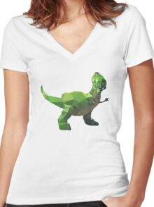 Rex - Toy Story Themed T-Shirt Women's Fitted V-Neck T-Shirt
