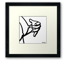 Touch Framed Print