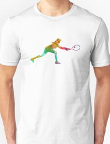 Woman tennis player sadness 02 in watercolor Unisex T-Shirt
