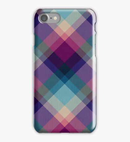 Cross Processed Plaid iPhone Case/Skin