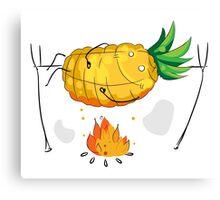 Pineapple on bonfire Canvas Print