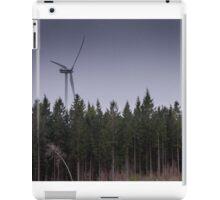 Alpine forest, wind turbine, Sweden, pine, trees iPad Case/Skin