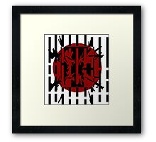 Red, black and white abstract design Framed Print