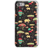 Night Time Rhino Adventure iPhone Case/Skin