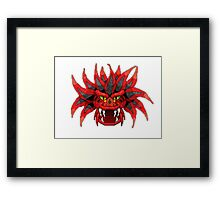the red dead dragon Framed Print